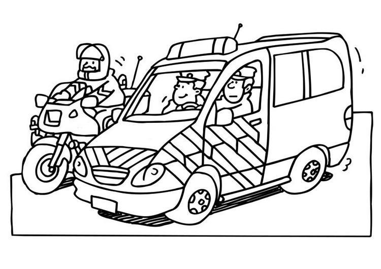 Dibujo para colorear Agente de Policia 06