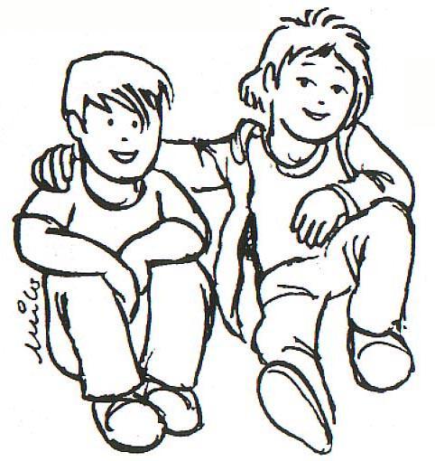 Dibujo Para Colorear Amigos 01
