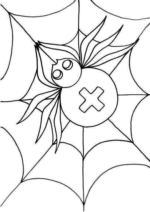 Dibujo Para Colorear Araña