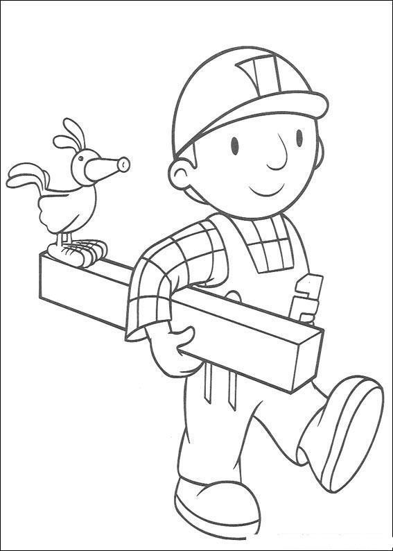 Dibujo Para Colorear Bob El Constructor 011