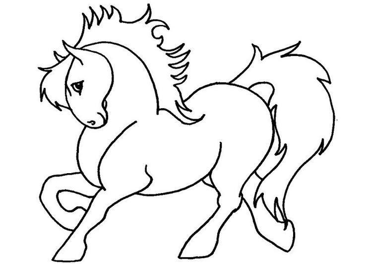 Dibujo para colorear Caballo 03