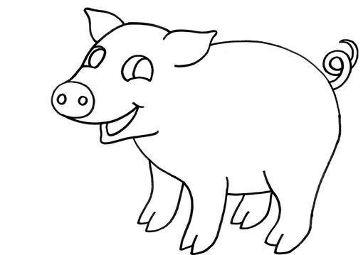 Dibujo para colorear Cerdo