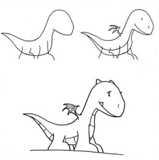 Dibujo para colorear Como Dibujar pequeño Dragón (comic)