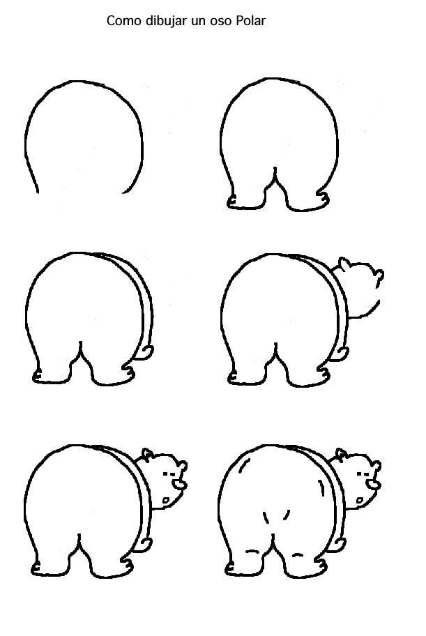Dibujo Para Colorear Como Dibujar Un Oso Polar Comic