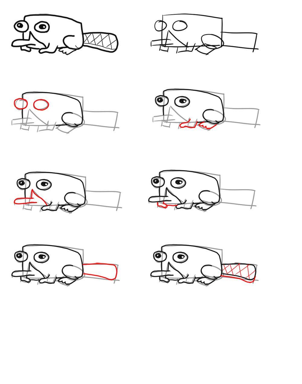 Dibujo para colorear Como dibujar a Perry el ornitorrinco