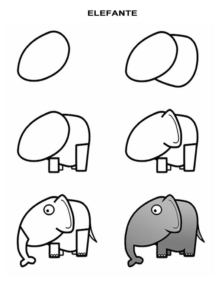 Dibujo Para Colorear Como Dibujar Elefante Comic