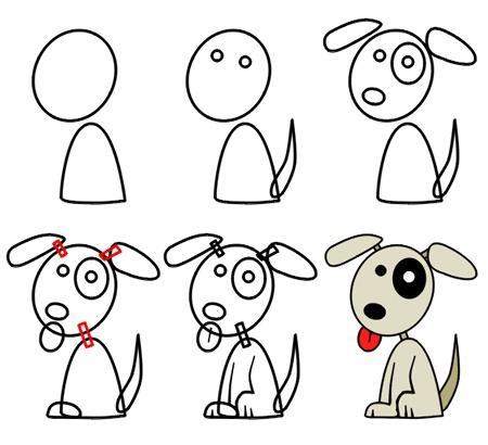 Dibujo Para Colorear Como Dibujar Un Perrito