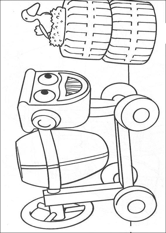 Dibujo para colorear Dizzy de Bob el constructor 01