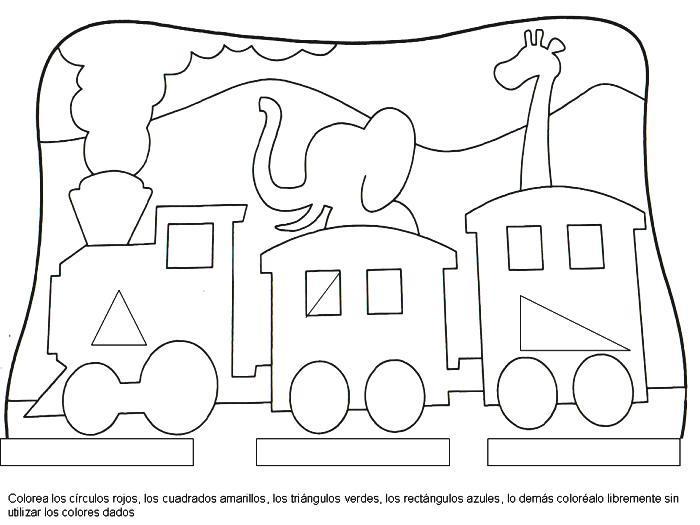 Dibujo Para Colorear El Tren Del Circo