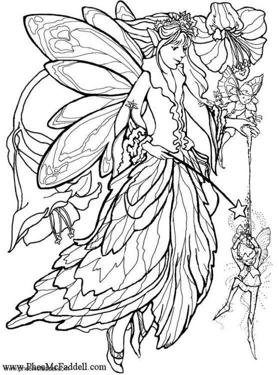 Dibujo Para Colorear Elfo Con Varita Magica