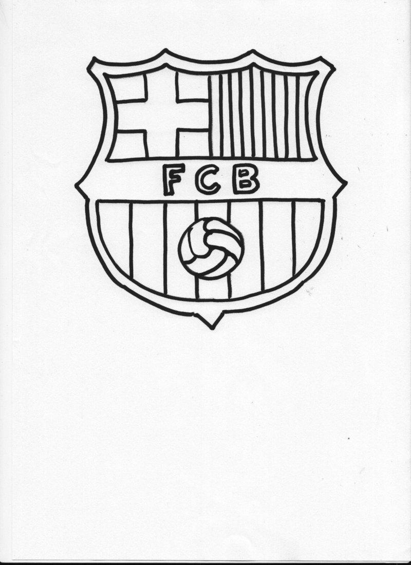 Dibujo Para Colorear Escudo F C Barcelona 2004