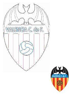 Dibujo Para Colorear Escudo Del Valencia Club De Futbol