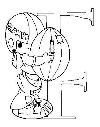 Dibujo Para Colorear Futbol Americano Letra F