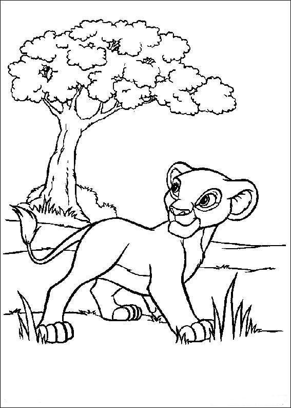 Dibujo para colorear Hijito del Rey Leon