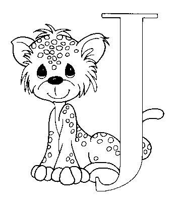 Dibujo para colorear Jimmy letra J