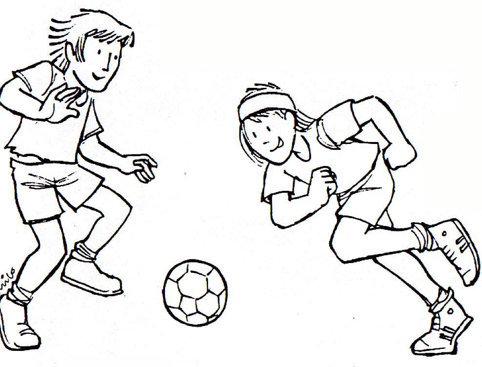 Dibujo Para Colorear Jugando Al Futbol 10