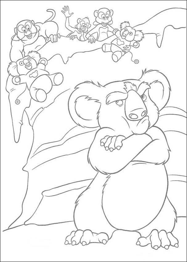 Dibujo Para Colorear Koala 01