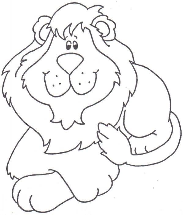 Dibujo para colorear León 05