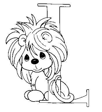 Dibujo Para Colorear León Letra L