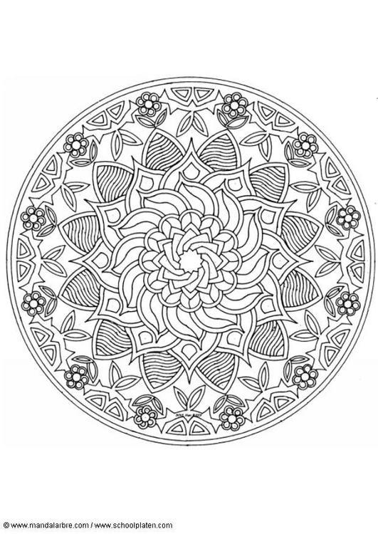 Dibujo Para Colorear Mandalas 51