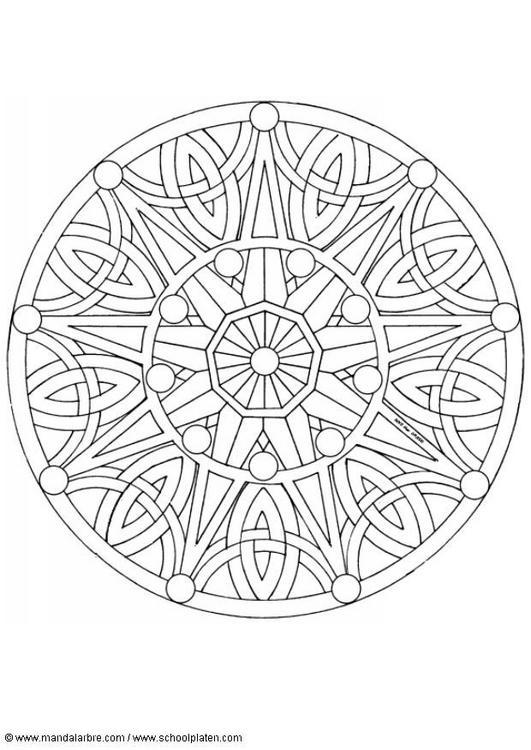 Dibujo Para Colorear Mandalas 53