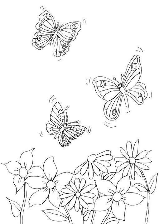 Dibujo para colorear Mariposas