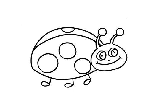 Dibujos De Mariquitas Infantiles Dibujos E Imagines Infantiles Para