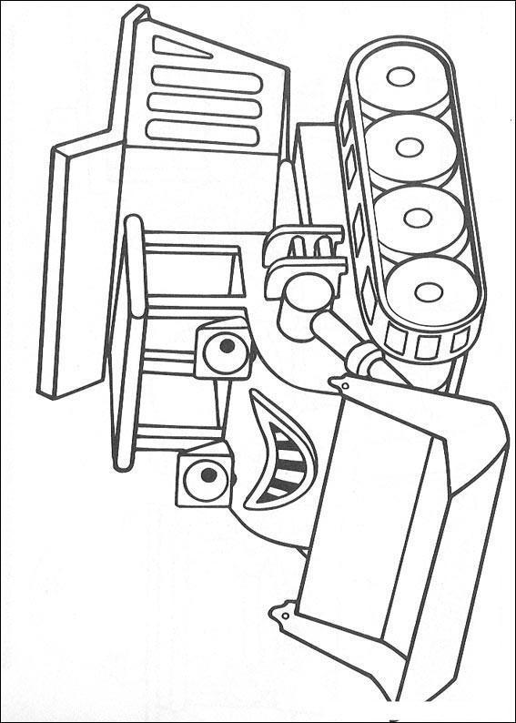 Dibujo para colorear Muck de Bob el constructor