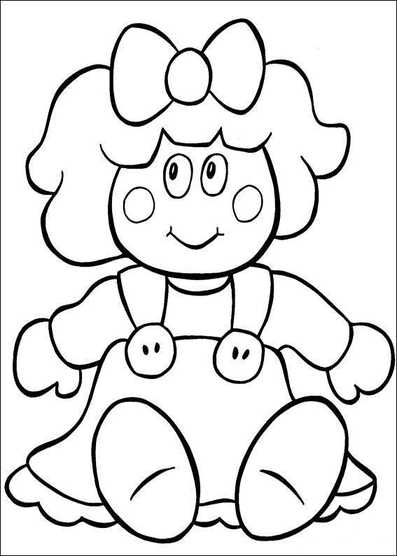 Dibujo para colorear Muñeca de juquete