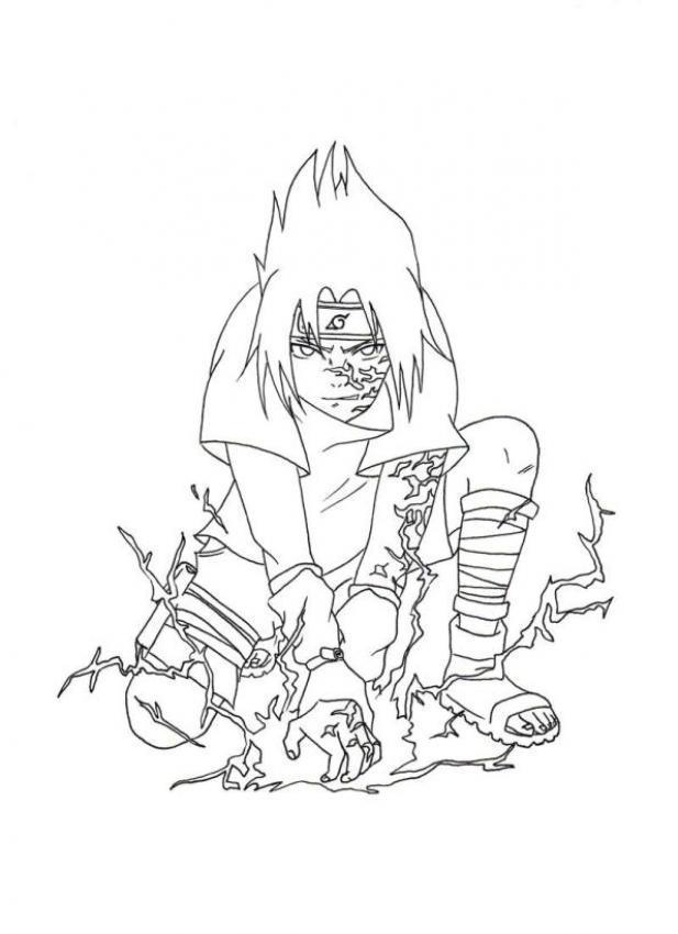 Dibujo para colorear Naruto - Sasuke Chidori