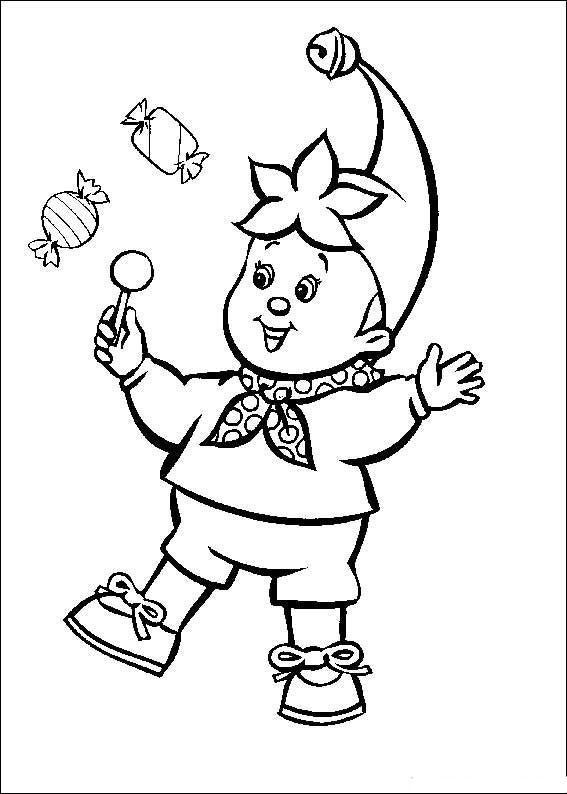 Dibujo Para Colorear Noddy Con Caramelos