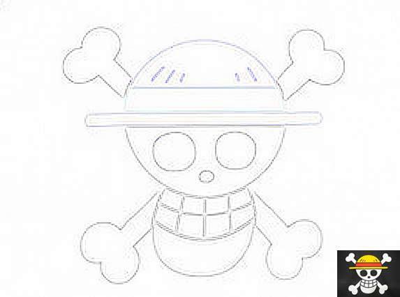 Dibujo para colorear One Piece - calavera