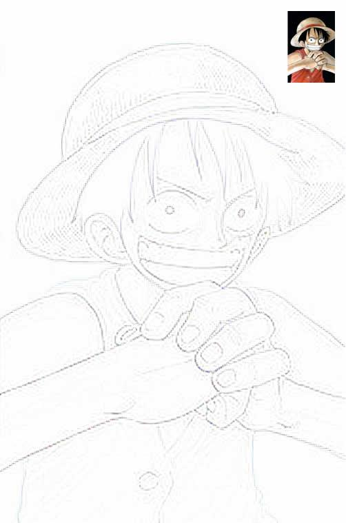 Dibujo para colorear one piece 10 for One piece dibujos