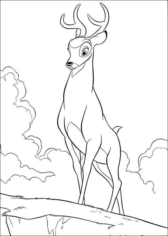 Dibujo para colorear Papa de Bambi