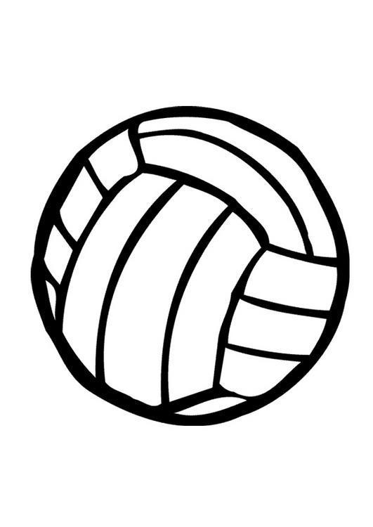 Dibujo para colorear Pelota Voleibol 01