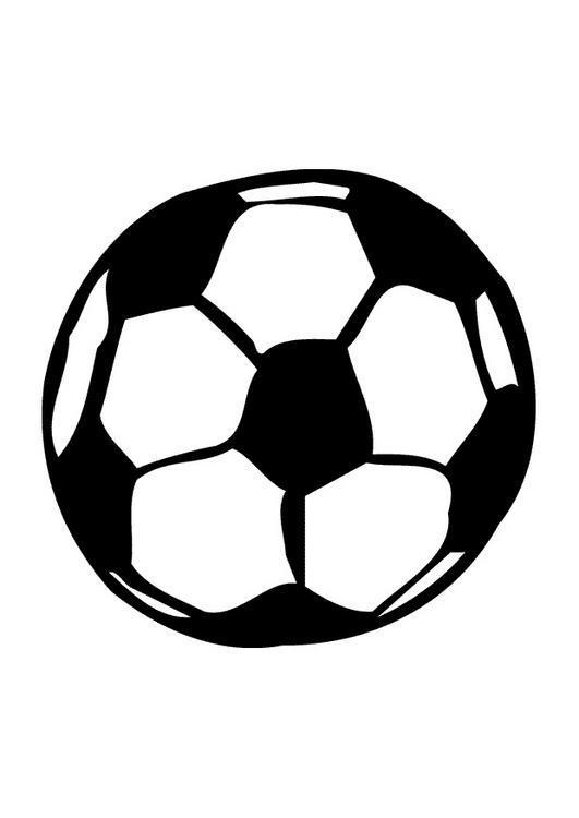 Dibujo para colorear Pelotas Futbol 01