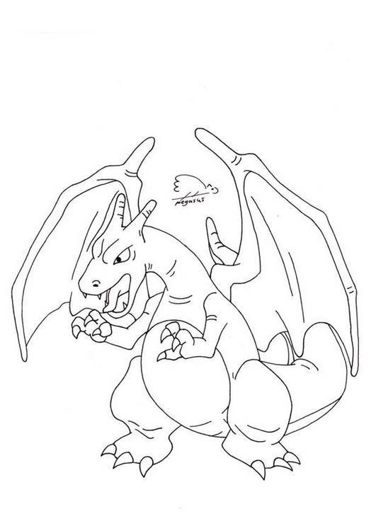 Dibujo para colorear Pokemon   Charizard 02