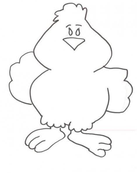 Dibujo para colorear Polluelo 01