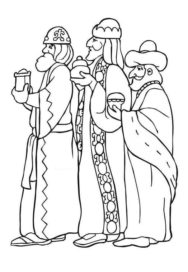 Dibujo Para Colorear Reyes Magos De Oriente
