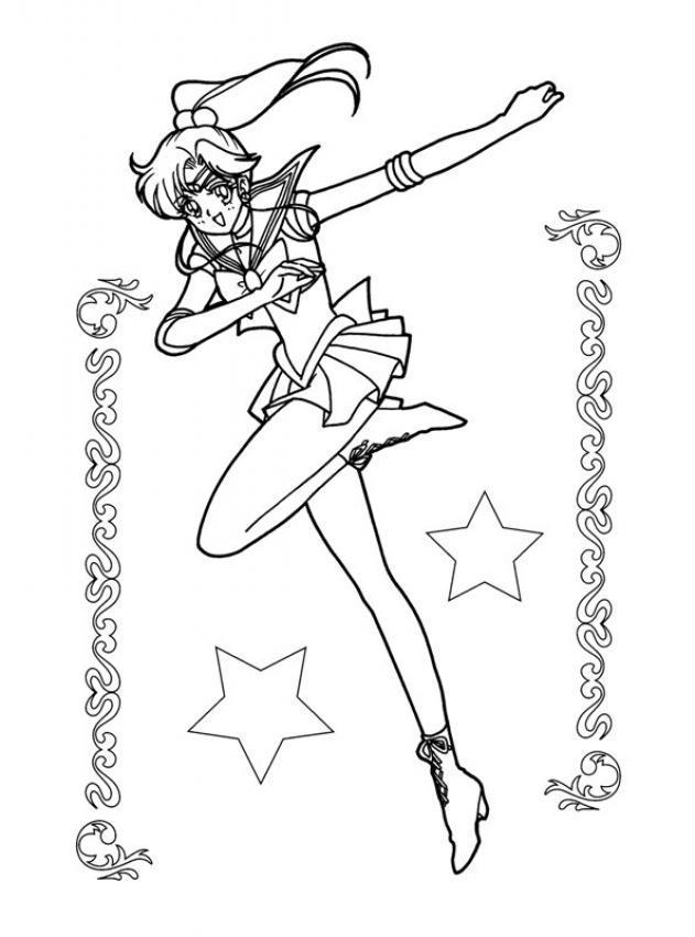 Dibujo Para Colorear Sailor Moon Baila
