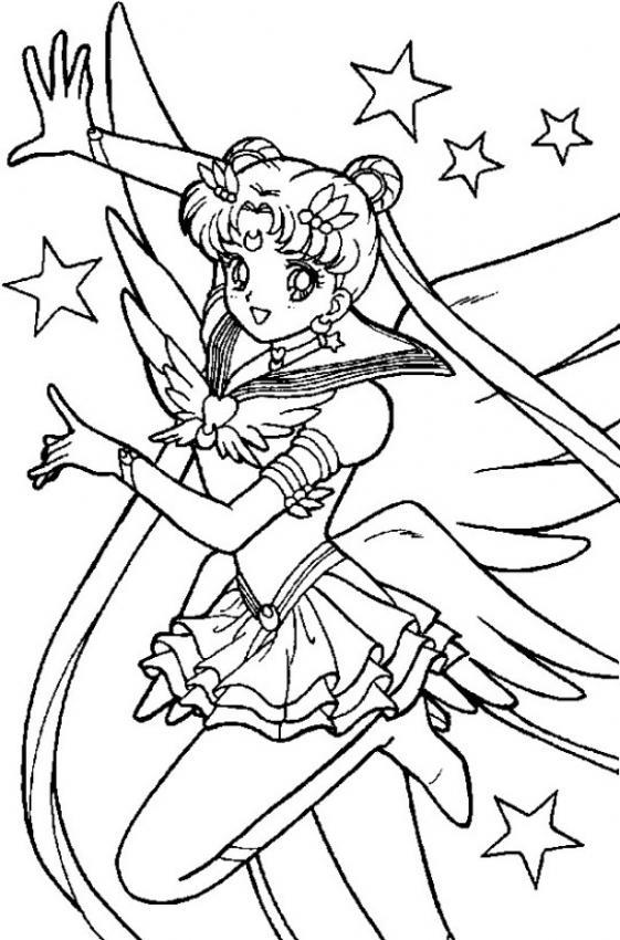 Dibujo Para Colorear Sailor Moon Contenta