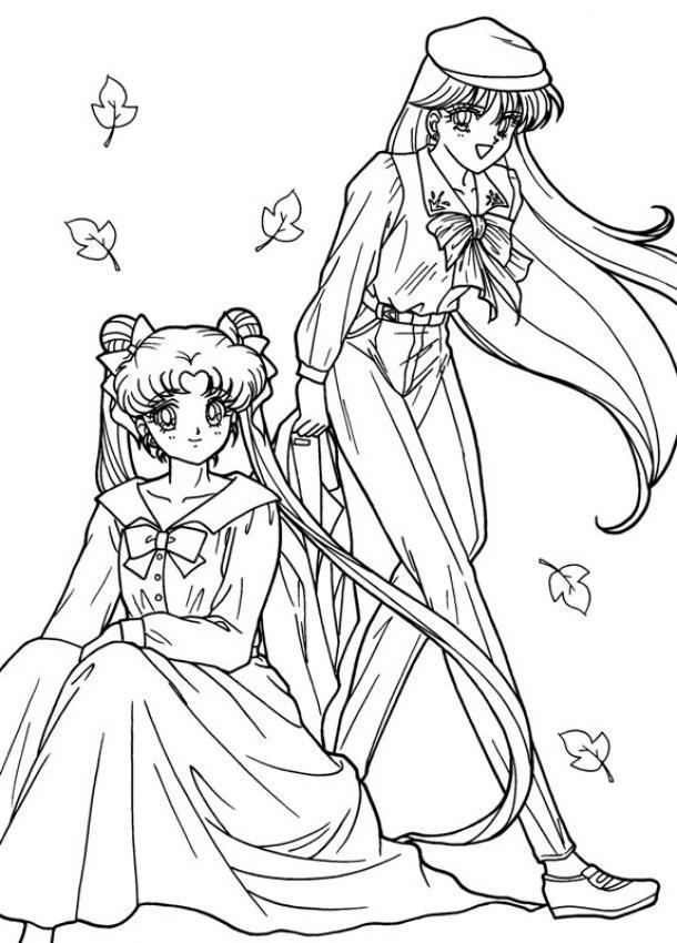 Dibujo Para Colorear Sailor Moon Sentada
