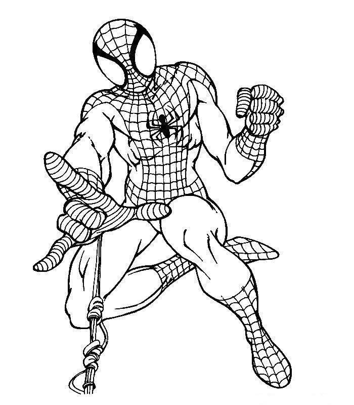 Dibujo Para Colorear Spiderman 04