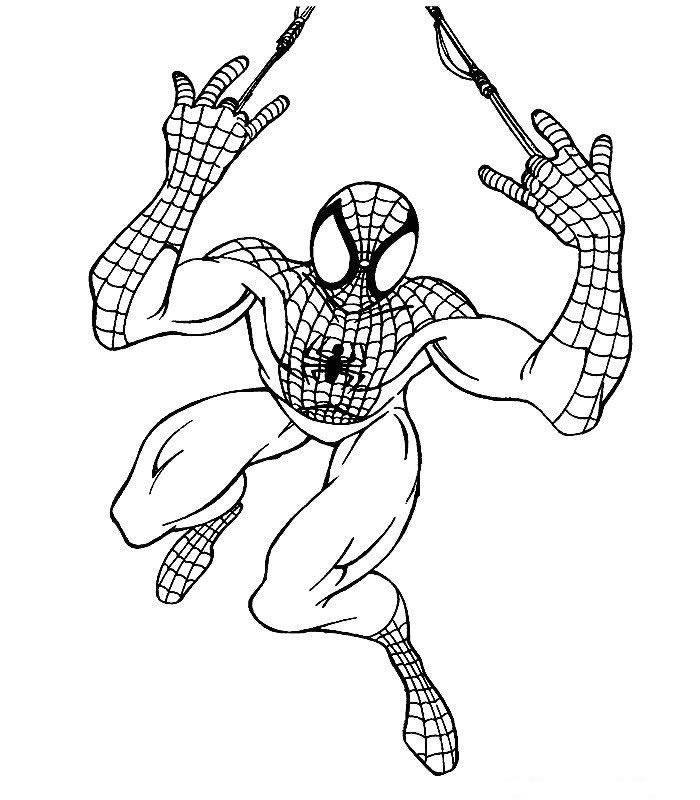 Dibujo para colorear Spiderman 13