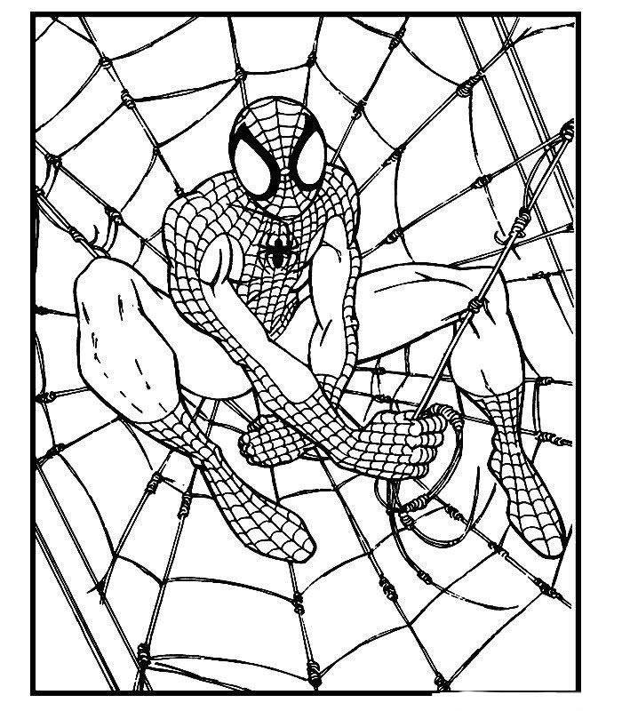 Dibujo para colorear Spiderman 14