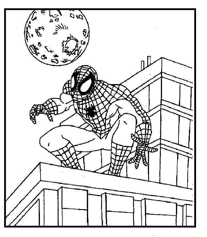 Dibujo para colorear Spiderman 15