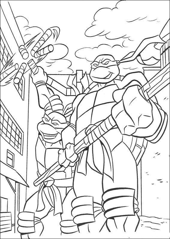 Dibujo para colorear Tortugas Ninja 01