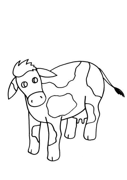 Dibujo para colorear Vaca 002