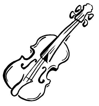 dibujo para colorear violin 01