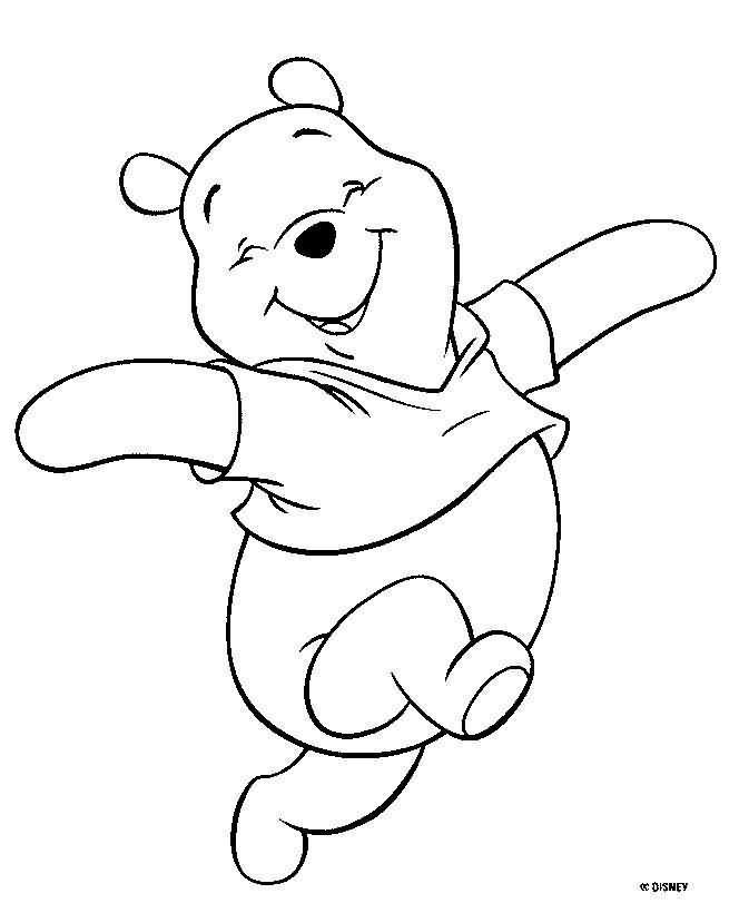 Dibujo Para Colorear Winnie Pooh 01